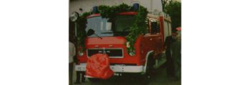 """Offizielle Fahrzeugübergabe unseres LF 8 der Firma """"Arve"""""""