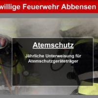 Unterweisung für AtemschutzgeräteträgerInnen